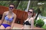 Thí sinh Hoa hậu Việt Nam khoe hình thể ở bể bơi