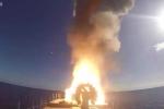 Clip: Chiến hạm Nga phóng loạt tên lửa hành trình diệt IS từ trên biển