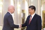 Gặp chủ tịch FIFA, Trung Quốc khoe tiềm lực đủ đăng cai World Cup