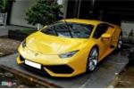 Siêu xe Lamborghini Huracan màu vàng độc trước nhà Cường Đôla