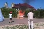 Video: Quả cầu 'thần kỳ' giúp dập lửa tức thời khi phát nổ