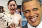 Diễn viên Lan Phương mang quà 'độc' tặng tổng thống Mỹ Obama