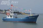 Hạ thủy tàu vỏ thép thứ hai cho ngư dân Quảng Ngãi