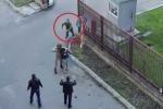 Clip: Anh lính dũng cảm lao vào giữa đoàn phim… cứu 'con tin'