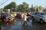 Video: Cảnh sát nổ súng, dân đua mô tô cố tình đâm