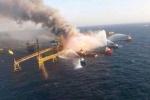 Giàn khoan dầu Mexico chìm trong khói lửa, ít nhất 4 người chết