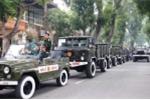 Xe quân đội diễn tập trước Lễ Quốc tang Đại tướng