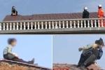 Clip: Chồng đòi ly hôn, vợ leo lên nóc nhà dỡ ngói cho… hả dạ