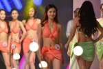 Cuộc thi sắc đẹp Trung Quốc gây sốc khi cho thí sinh thay bikini ngay trên sân khấu