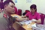 Hàng trăm chiến sỹ an ninh tham gia hiến máu