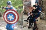 Tim hóa siêu anh hùng Captain America để giúp con trai thực hiện ước mơ