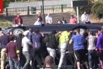 Cuộc tấn công kinh hoàng của tài xế taxi nhắm vào lái xe Uber