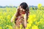 Người đẹp teen Quỳnh Anh rực rỡ giữa đồng hoa cải