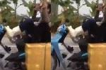 Hãi hùng clip nam thanh niên 'thách thức tử thần' giữa đường ở Thanh Hoá