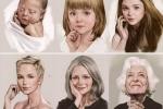 Thích thú với video tái hiện quá trình trưởng thành của người phụ nữ