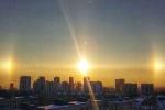 Cip: Sửng sốt với hiện tượng mặt trời giả kỳ thú trên bầu trời Nga