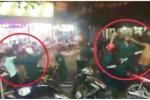 Dân quân dùng dùi cui đánh liên tiếp vào người vi phạm giao thông