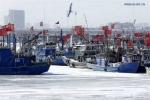 Ảnh: Giá rét kỷ lục 30 năm ở Trung Quốc, tàu thuyền 'chết cứng'