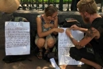 Thực hư 2 du khách nước ngoài treo biển bị cướp, nhờ giúp đỡ ở Văn Miếu