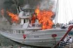 Tàu du lịch bốc cháy dữ dội ở Tuần Châu: Tỉnh Quảng Ninh chỉ đạo khẩn