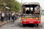 Clip: Xe bus cháy trơ khung tại bến