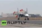 Video: Chiến cơ Sukhoi Nga tấp nập xuất kích diệt IS