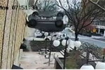 Video: Cô gái may mắn thoát chết khi lao xe từ tầng 4 xuống đất