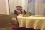 Clip: Bắt quả tang nhân viên nhà hàng lau thìa đũa bằng… khăn trải bàn