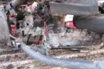 Hình ảnh xe máy Honda AirBlade bị cháy trơ khung