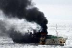 Tàu cá phát nổ, 3 người chết và mất tích