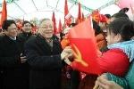 Tổng Bí thư thăm và chúc Tết 'thủ đô kháng chiến'