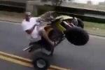 Clip: Quái xế bốc đầu môtô 4 bánh và cái kết đắng