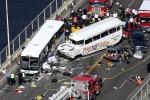 Hiện trường vụ tai nạn xe bus có chở sinh viên Việt Nam ở Mỹ