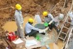 Đường ống nước Sông Đà vỡ liên tiếp trong 2 ngày