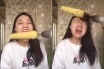 Clip: Thiếu nữ thử ăn ngô bằng máy khoan và cái kết đau lòng