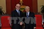 Tổng Bí thư tiếp đón đoàn đại biểu Đảng cộng sản Mỹ