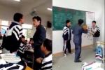 Clip: Nam sinh chửi mắng, cầm ghế đòi đánh thầy giáo
