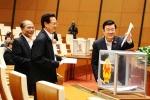 Quốc hội bỏ phiếu kín miễn nhiệm một số Phó Thủ tướng, Bộ trưởng