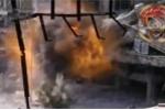Clip: 'Dính' tên lửa của quân Syria, tay súng IS nổ tan xác