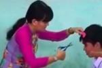Clip cô giáo cầm kéo cắt tóc nam sinh trong lớp học gây 'bão' mạng