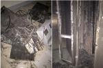 Cháy trạm điện chung cư, bé trai kẹt trong thang máy