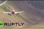 Clip: Máy bay chao đảo khủng khiếp khi hạ cánh ở sân bay đáng sợ nhất châu Âu