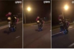 Clip: Nữ quái xế hở bạo bốc đầu môtô trên phố