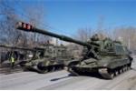 Lực lượng tăng thiết giáp Nga tập duyệt binh ngày Chiến thắng
