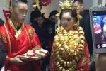 Lại xôn xao đám cưới ngập vàng của cô dâu chú rể 26 tuổi
