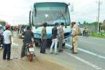 Xe khách gây tai nạn liên hoàn, tài xế bỏ trốn