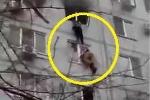 Clip: Cháy nổ chung cư, dân nhảy từ tầng 7 xuống thoát thân