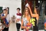 Cư dân mạng làm clip chế thảm họa trao nhầm vương miện Miss Universe 2015