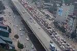 Cao tốc Pháp Vân - Cầu Giẽ ùn tắc nghiêm trọng sáng 28 Tết