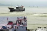 Tàu cá Trung Quốc mắc cạn ở cửa biển Việt Nam